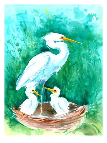 Heron-Suren Nersisyan-Art Print