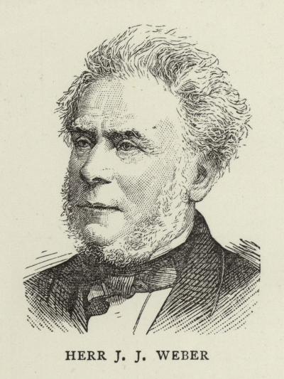 Herr J J Weber--Giclee Print