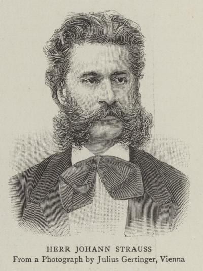Herr Johann Strauss--Giclee Print