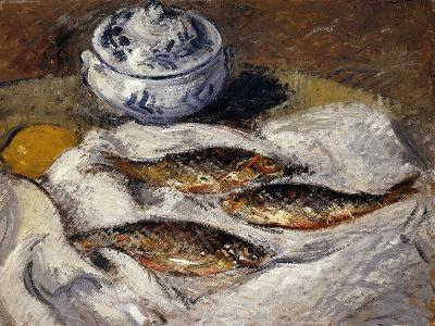 Herring and Tureen; Harengs Et Soupiere, C.1925-Gustave Loiseau-Giclee Print