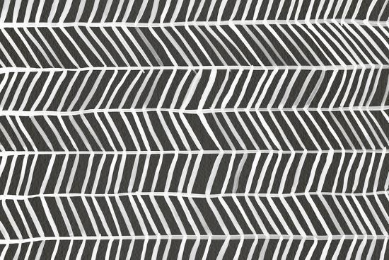 Herringbone - Black-Cat Coquillette-Wall Mural