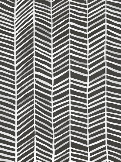 Herringbone - Black-Cat Coquillette-Giclee Print