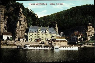 Herrnskretschen Region Aussig, Dampfer Schandau--Giclee Print