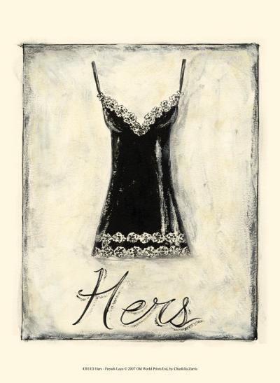 Hers: French Lace-Chariklia Zarris-Art Print