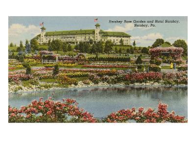 Hershey Rose Garden and Hotel, Hershey, Pennsylvania--Art Print