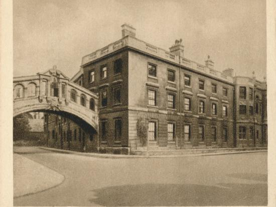 'Hertford College, Oxford', 1923-Unknown-Photographic Print