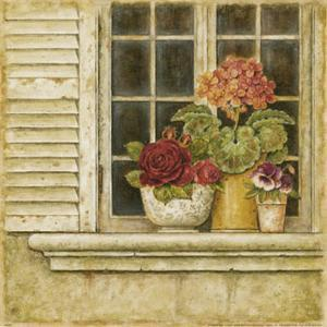 Floral Arrangement in Windowsill I by Herve Libaud