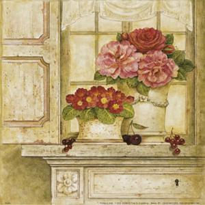 Floral Arrangement with Grapes I by Herve Libaud