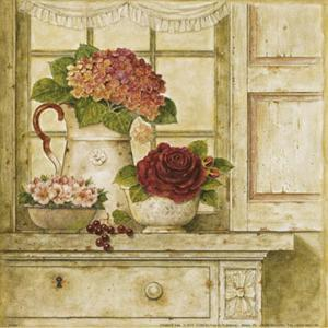 Floral Arrangement with Grapes II by Herve Libaud