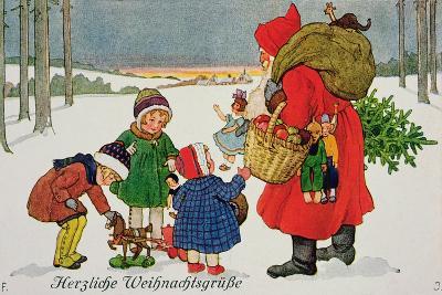 Herzliche Weihnachtsgrusse' Card--Giclee Print