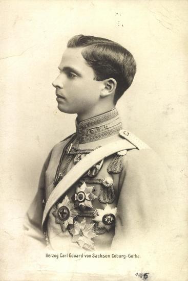 Herzog Carl Eduard Von Sachsen Coburg Gotha,Portrait--Giclee Print