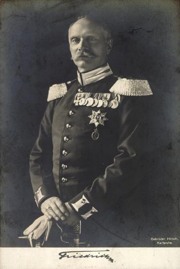 Herzog Friedrich Ii Von Baden in Uniform, Portrait--Giclee Print