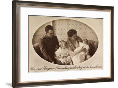 Herzog Und Herzogin Zu Braunschweig, Prinzen, Npg--Framed Giclee Print