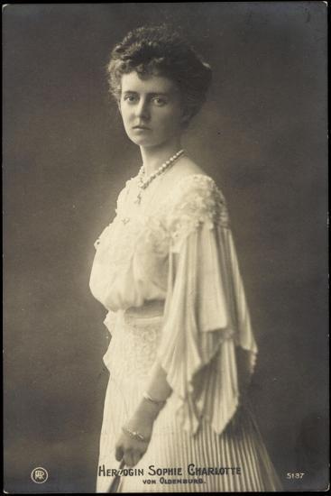 Herzogin Sophie Charlotte Von Oldenburg, Rph 5137--Giclee Print