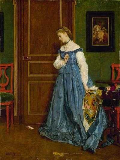 Hesitation, Possibly Madame Monteaux, C.1867-Alfred Emile Stevens-Giclee Print