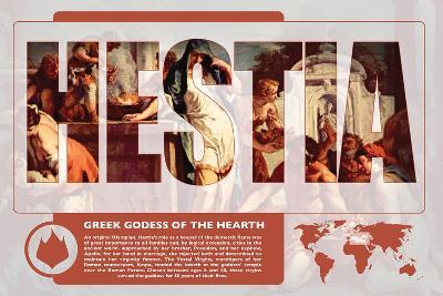 Hestia Mythology Poster-Christopher Rice-Art Print