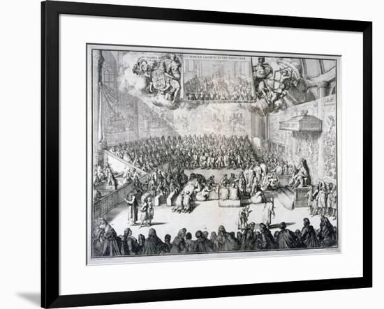 Het Hoog-En Lager-Huys Van Engelandt, 1689-Romeyn De Hooghe-Framed Giclee Print