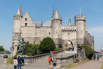 Het Steen, a Medieval Fortress in Antwerp, Belgium, Europe-Carlo Morucchio-Photographic Print