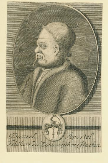Hetman Danylo Apostol (1654-173)-Martin Bernigeroth-Giclee Print