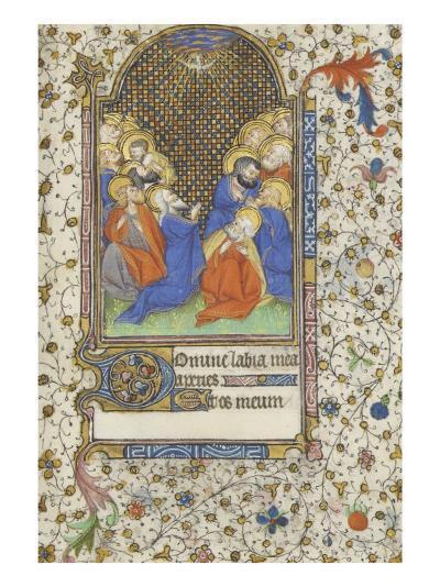 Heures à l'usage de Troyes. La Pentecôte--Giclee Print