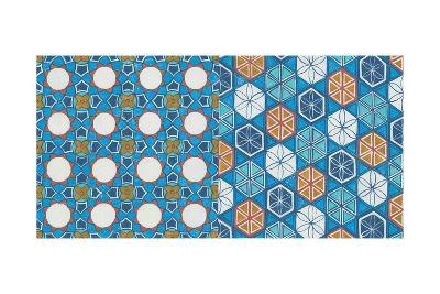 Hex Tiles-Kathrine Lovell-Art Print