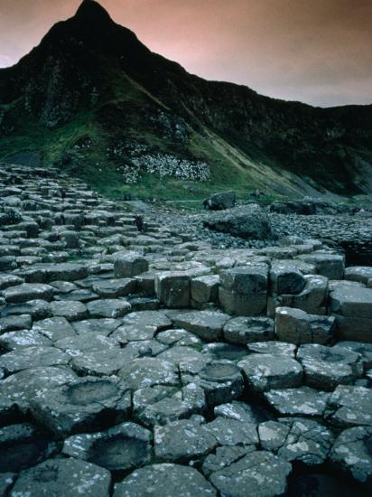 Hexagonal Basalt Rock Formations of Giant's Causeway, Giants Causeway, United Kingdom-Mark Daffey-Photographic Print