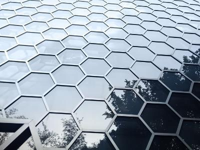 Hexagonal Building Facade-Maxim Vetrov-Photographic Print