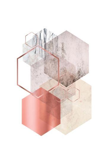 Hexagonal Geo 1-Urban Epiphany-Art Print
