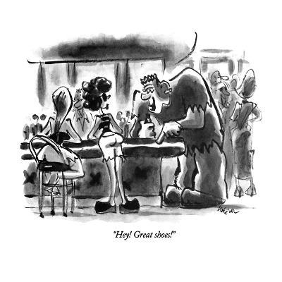 """Hey!  Great shoes!"" - New Yorker Cartoon-Lee Lorenz-Premium Giclee Print"