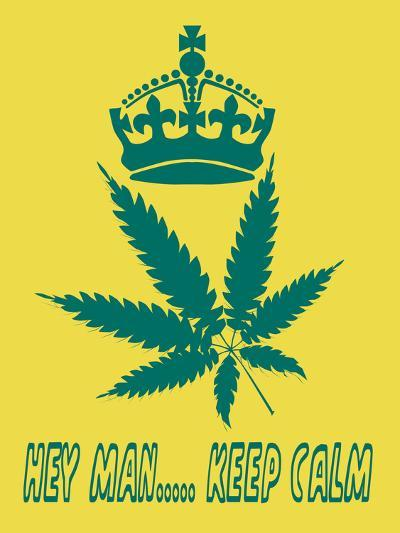 Hey Man Keep Calm- cotton-al-Art Print