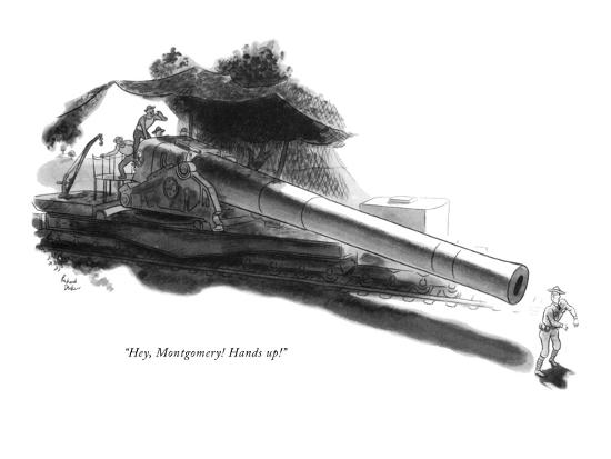 """Hey, Montgomery! Hands up!"" - New Yorker Cartoon-Richard Decker-Premium Giclee Print"