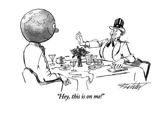 """Hey, this is on me!"" - New Yorker Cartoon-Mischa Richter-Premium Giclee Print"