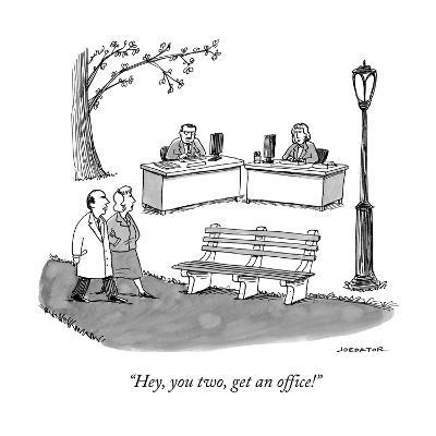 """""""Hey, you two, get an office!"""" - New Yorker Cartoon--Premium Giclee Print"""