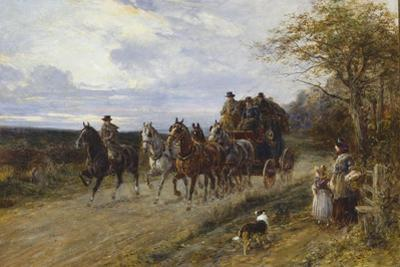 A Passing Coach by Heywood Hardy