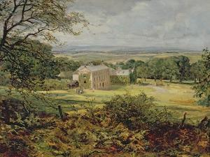 English Landscape with a House by Heywood Hardy