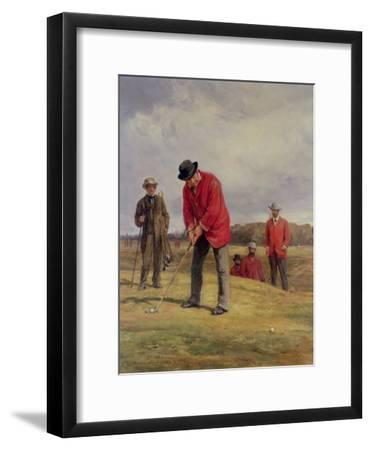 George Glennie Putting at Blackheath with Putting Cleek, 1881