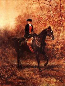 Girl Riding Side-Saddle by Heywood Hardy