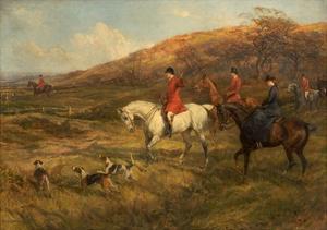 Hunting Scene, 1899 by Heywood Hardy