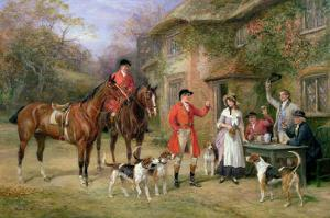 Meeting at the Three Pigeons by Heywood Hardy