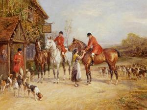 Outside the Three Crowns by Heywood Hardy