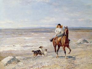 Pony Ride on the Beach by Heywood Hardy
