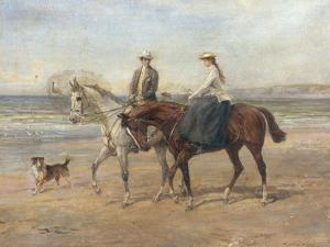Riders on the Shore by Heywood Hardy