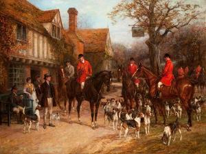 The Meet, Ye Olde Wayside Inn by Heywood Hardy
