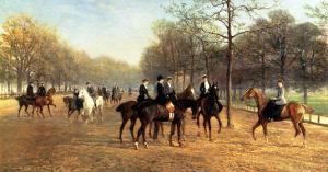 The Morning Ride, Rotten Row, Hyde Park, 1894 by Heywood Hardy