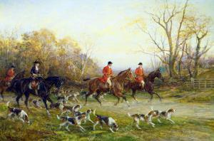 The Start of the Hunt by Heywood Hardy