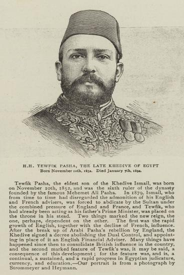 Hh Tewfik Pasha, the Late Khedive of Egypt--Giclee Print