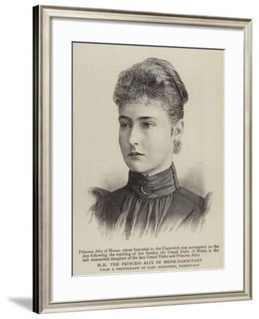 Hh the Princess Alix of Hesse-Darmstadt--Framed Giclee Print