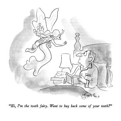 """""""Hi, I'm the tooth fairy.  Want to buy back some of your teeth?"""" - New Yorker Cartoon-Edward Frascino-Premium Giclee Print"""