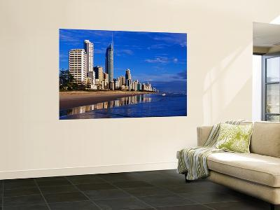 Hi-Rise Apartment Buildings and Surfers Paradise Beach-Richard l'Anson-Wall Mural