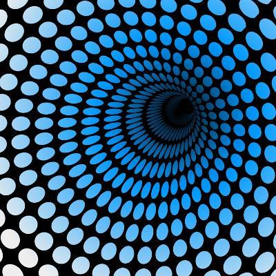 Hi Tech Blue Tunnel, Digital Dynamic Wallpaper, Technology, Science Background. See Others in My Po- artcalin-Art Print